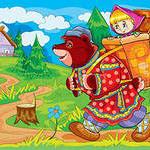 Знакомство с русской народной сказкой «Маша и медведь»