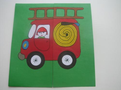 Картинки для 5 лет по пожарной машине