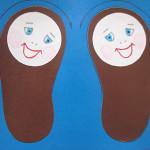 Дидактическая игра  «Туфельки поссорились-  помирились»