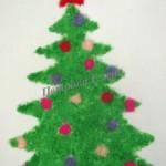 Аппликация из ниток «Новогодняя елочка»